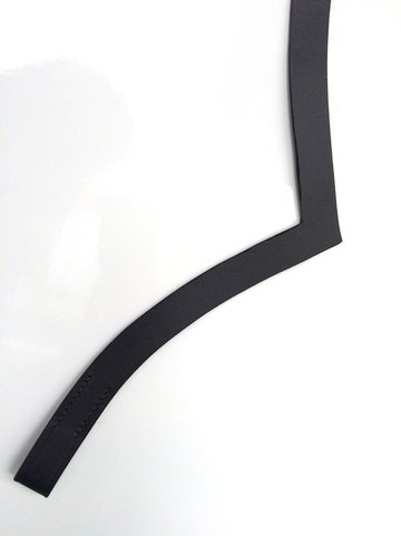 V-vorm 1,8 cm ZWART