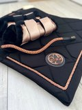 SET aanbieding! Rosegold Black dekje, beenbeschermers & Rosegold frontriem_