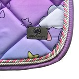 New! Saddle pad 'Unicorns & rainbows' _