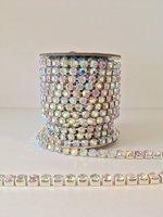 4mm (SS16) AB Crystal (zilveren cups)