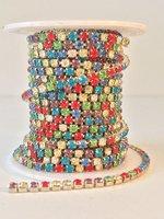 3mm (SS12) multicolor (zilveren cups)