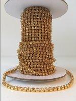 3mm (SS12) Light Colorado Topaz (gouden cups)
