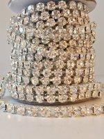 3mm (SS12) Crystal (zilveren cups)