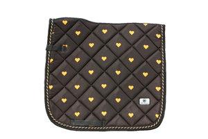 New! Saddle pad 'Gold Love'