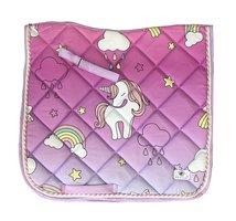 New! Saddle pad 'Unicorns & rainbows'