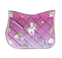 New! Saddle pad 'Unicorns & rainbows'