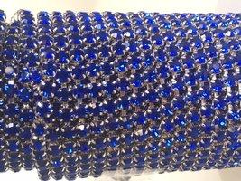 3mm (SS12) Kobalt (zilveren cups)