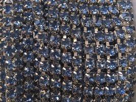 3mm (SS12) Lichtblauw (zilveren cups)