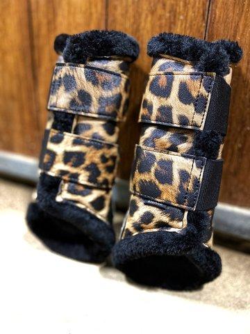 Leopard Brushing boots - beenbeschermers
