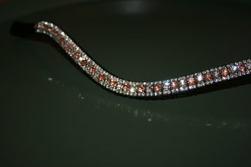 Cob - 3-6-3mm rosegoud & crystal