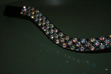 Full - 3x6mm  Black Diamond & AB crystal