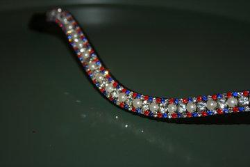 Cob - 3-6-3mm Rood,kobalt, pearls & crystal