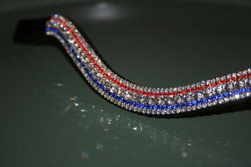 Pony - 3-3-6-3-3mm rood, kobalt & crystal
