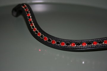 COB - Swarovski Black & Red