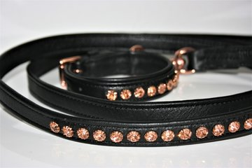 Stellux rosegold dog collar set