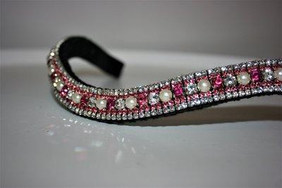 COB - 3-3-6-3-3mm roze & crystal