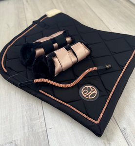 SET aanbieding! Rosegold Black dekje, beenbeschermers & Rosegold frontriem