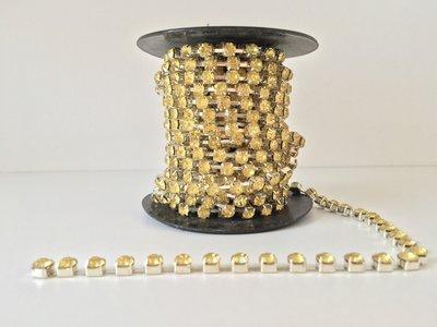 6mm (SS28) Citrin (zilveren cups)