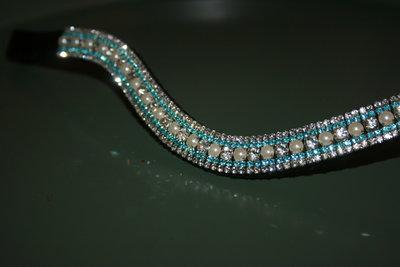 Full - 3-3-6-3-3mm Aqua, pearls & crystal