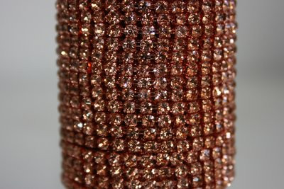 3mm (SS12) Rosegold (rosegouden cups)
